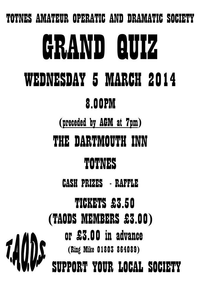 Grand Quiz & AGM 2014