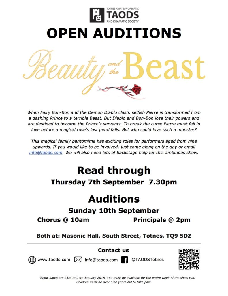 beauty audition poster